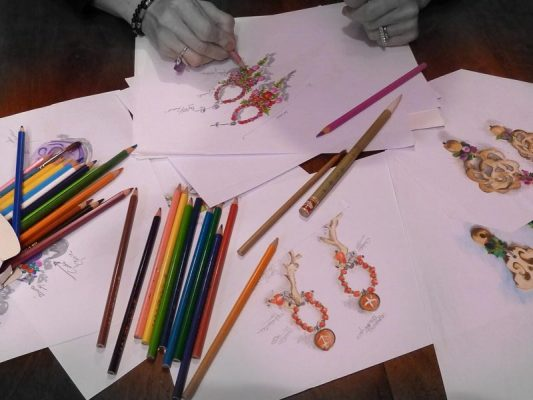 bozzetti gioielli artigianali evanescence