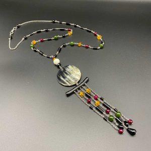 Collana girocollo donna con pendente chandelier G3120