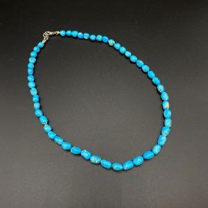 Collana girocollo da uomo realizzata con sassi in turchese Arizona I11521